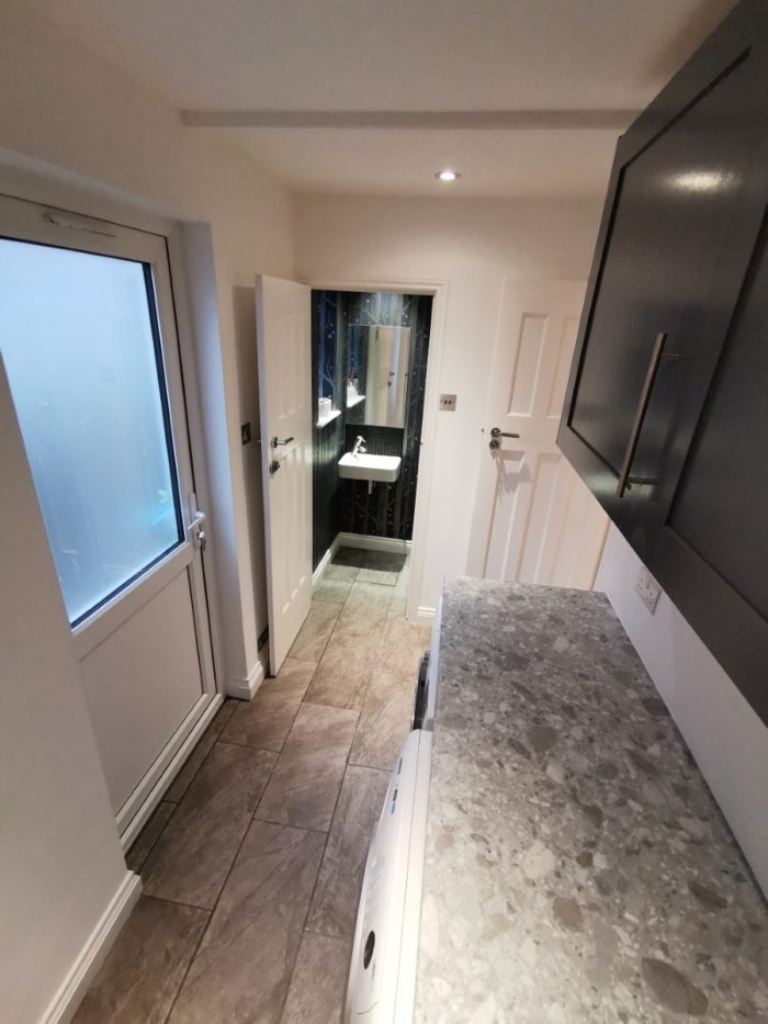 rear kitchen diner extension with complete reconfiguration and refit of existing utility room